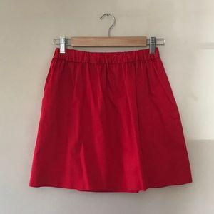 J.Crew Crewcuts Red Poplin A-like Skirt, size 14